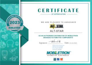 Сертификат официального дилера Mobiletron