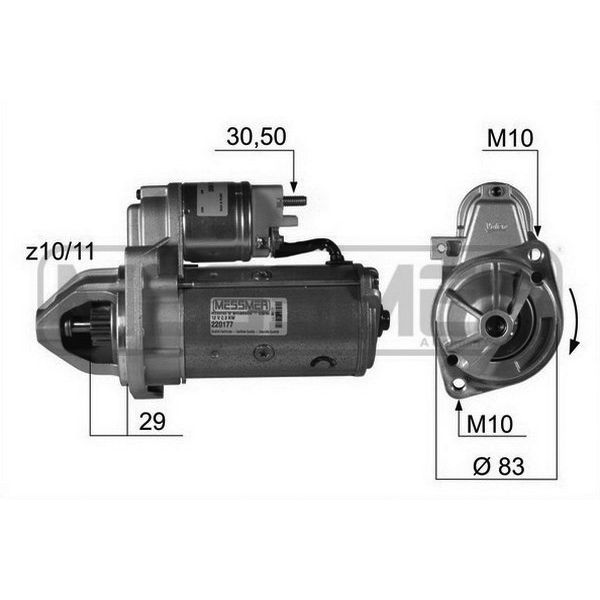 mercedes benz vito 111 starter motor 2.2 diesel 2003 2004 2005-07 valeo D7R19